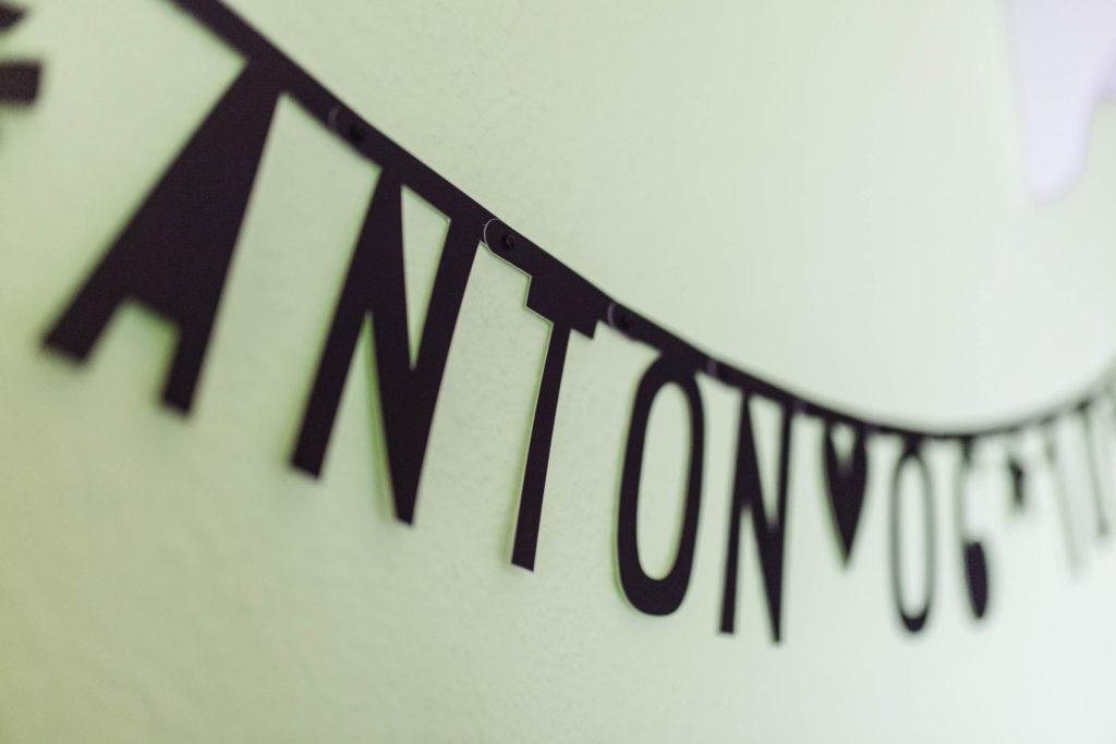 Namensgirlande im Kinderzimmer, Anton